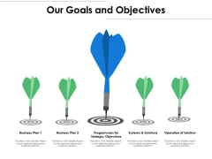 Our Goals And Objectives Ppt PowerPoint Presentation Icon Example Introduction