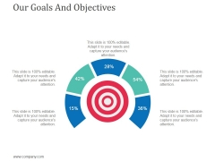Our Goals And Objectives Ppt Powerpoint Presentation Infographics Background