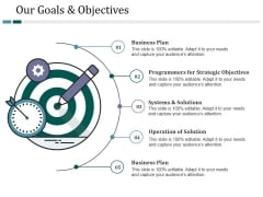 Our Goals And Objectives Ppt PowerPoint Presentation Inspiration Slide Download
