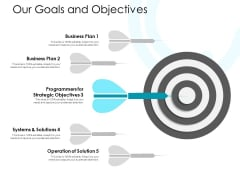 Our Goals And Objectives Ppt PowerPoint Presentation Show Visuals