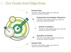 Our Goals And Objectives Ppt PowerPoint Presentation Slides Guide