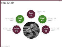 Our Goals Ppt PowerPoint Presentation Files