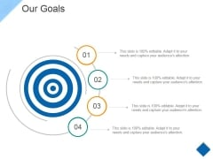Our Goals Ppt PowerPoint Presentation Gallery Portfolio