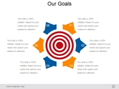 Our Goals Ppt PowerPoint Presentation Inspiration Good