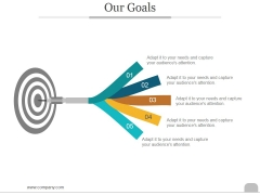 Our Goals Ppt PowerPoint Presentation Model