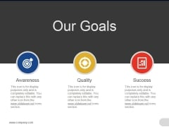 Our Goals Ppt PowerPoint Presentation Outline Tips