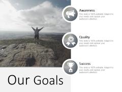 Our Goals Ppt PowerPoint Presentation Portfolio Designs
