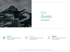 Our Goals Target Arrow Ppt PowerPoint Presentation Slides Grid