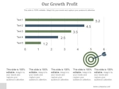 Our Growth Profit Ppt PowerPoint Presentation Design Templates