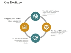 Our Heritage Template 1 Ppt PowerPoint Presentation Inspiration Design Inspiration