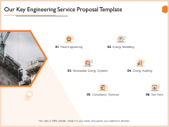 Our Key Engineering Service Proposal Template Topics PDF