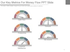 Our Key Metrics For Money Flow Ppt Slide