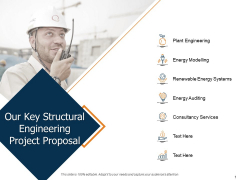Our Key Structural Engineering Project Proposal Ppt Infographic Template Show PDF