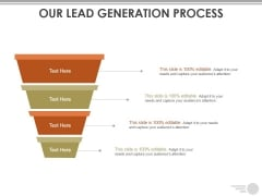 Our Lead Generation Process Ppt PowerPoint Presentation Model Picture