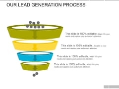 Our Lead Generation Process Ppt PowerPoint Presentation Professional Deck