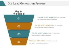 Our Lead Generation Process Ppt PowerPoint Presentation Shapes