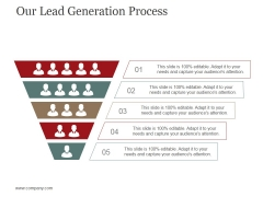 Our Lead Generation Process Ppt PowerPoint Presentation Visual Aids Layouts