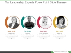 Our Leadership Experts Powerpoint Slide Themes