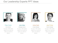 Our Leadership Experts Ppt PowerPoint Presentation Show
