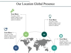 Our Location Global Presence Ppt PowerPoint Presentation Gallery Graphics Tutorials