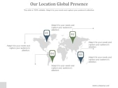 Our Location Global Presence Ppt PowerPoint Presentation Inspiration