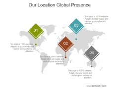 Our Location Global Presence Ppt PowerPoint Presentation Portfolio