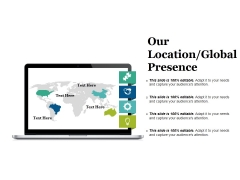 Our Location Global Presence Ppt PowerPoint Presentation Visual Aids Infographics