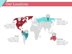 Our Locations Ppt PowerPoint Presentation Model Summary