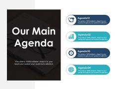 Our Main Agenda Ppt PowerPoint Presentation Model Deck