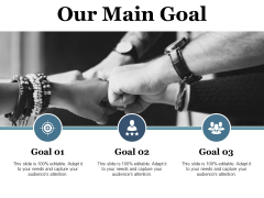 Our Main Goal Ppt PowerPoint Presentation Ideas Example Topics