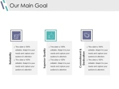 Our Main Goal Ppt PowerPoint Presentation Ideas Pictures
