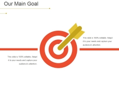 Our Main Goal Ppt PowerPoint Presentation Ideas Skills