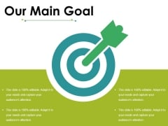 Our Main Goal Ppt PowerPoint Presentation Model