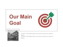 Our Main Goal Ppt PowerPoint Presentation Outline Summary