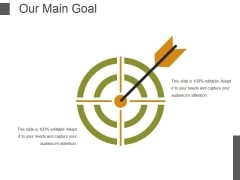 Our Main Goal Ppt PowerPoint Presentation Professional Graphics