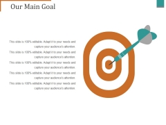 Our Main Goal Ppt PowerPoint Presentation Professional Model