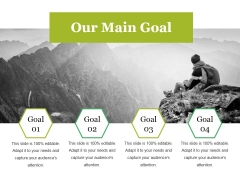 Our Main Goal Ppt PowerPoint Presentation Show Ideas
