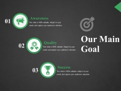 Our Main Goal Ppt PowerPoint Presentation Styles Outfit