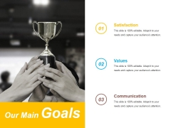Our Main Goals Ppt PowerPoint Presentation Gallery Graphics Pictures