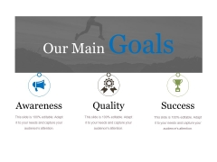 Our Main Goals Ppt PowerPoint Presentation Infographics Infographic Template