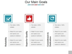 Our Main Goals Ppt PowerPoint Presentation Model Tips