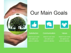 Our Main Goals Ppt PowerPoint Presentation Rules