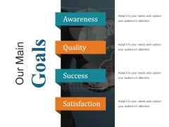 Our Main Goals Ppt PowerPoint Presentation Samples