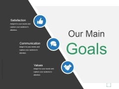 Our Main Goals Ppt PowerPoint Presentation Show