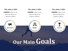 Our Main Goals Ppt PowerPoint Presentation Styles Demonstration