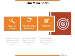 Our Main Goals Ppt PowerPoint Presentation Styles Model