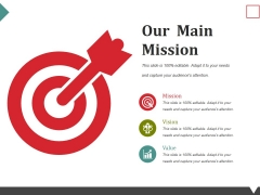 Our Main Mission Ppt PowerPoint Presentation Portfolio Styles