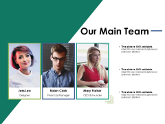 Our Main Team Ppt PowerPoint Presentation Layouts Ideas