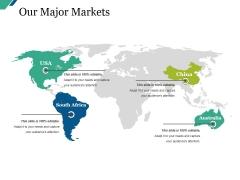 Our Major Markets Ppt PowerPoint Presentation Model Slides