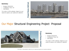 Our Major Structural Engineering Project Proposal Ppt Summary Example PDF